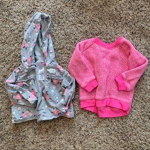 Baby a Girl Zip Up and Crew Neck Sweatshirt